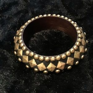 Brass/black bangle